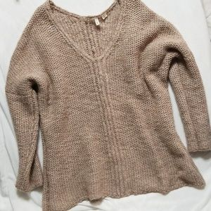 Moth by Anthropologie Chunky Vneck Sweater
